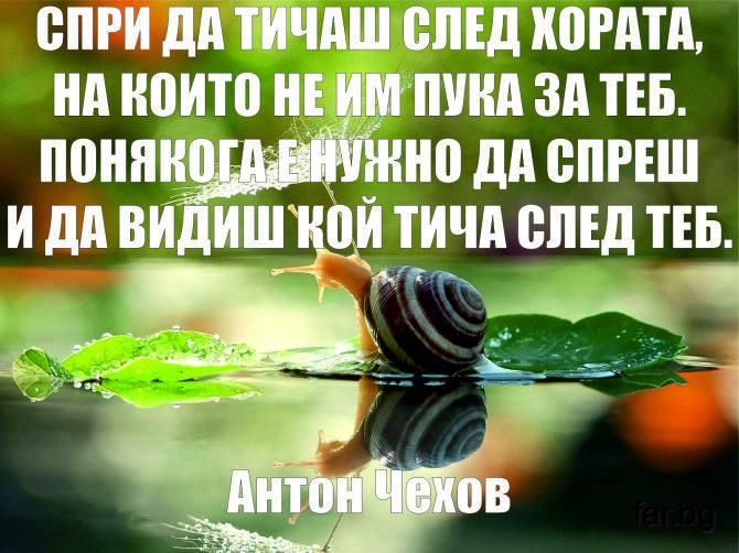 Понякога е нужно да спреш... Антон Чехов